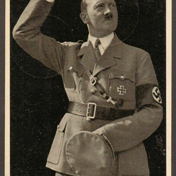 "1938 - ""Adolph Hitler"" Photo Postal Card - Postcards"
