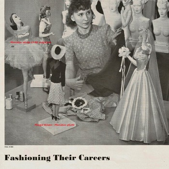 Magazine AD 1940 of the first woman to make Miniature Mannequins  - Advertising