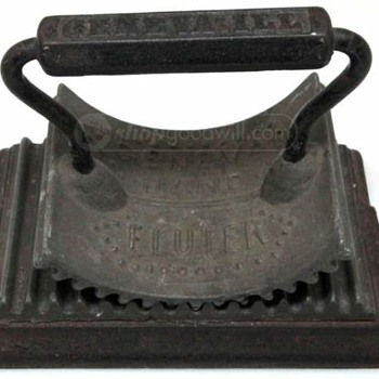 Cast Iron Fluter like My Grandmother Used at City Dye Works, Chicage.and photo #2 S.O.T.H.D.