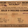 1931/32 - Oleomargarine Tax Stamp
