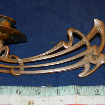 Beautiful Art Nouveau Swiveling Piano Candle Holder- Bracket?? - Art Nouveau