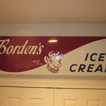 Bordens's Porcelain Ice Cream Sign