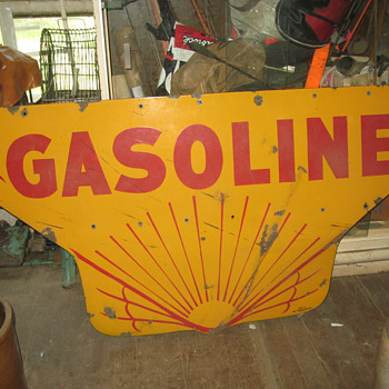 I am looking for the top half of the vintage Shell sign. - Petroliana