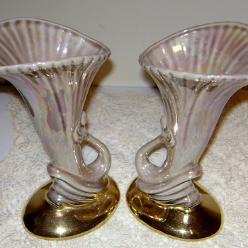 Vintage Pacific Pottery Lily Vases Circa 1930's - Art Pottery