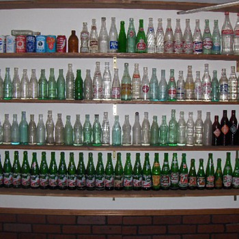 Embossed and ACL soda bottle collection