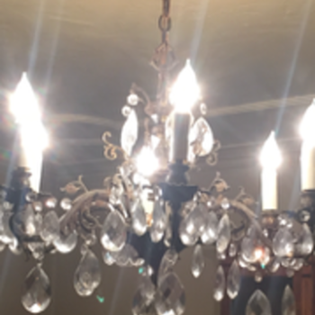 POST 1950s Crystal chandelier