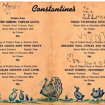 Childrens menu