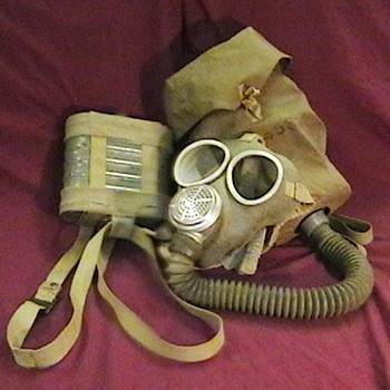 WW II Imperial Japanese Marine Gas Mask with Carrying Bag and Spare Filter - Military and Wartime