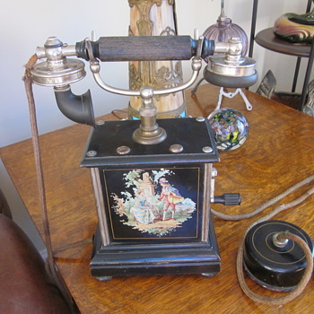 Antique Crank Telephone... - Telephones
