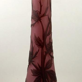 "Loetz ""Richard"" Cameo glass vase, Camelienrot aussen Braun, PN II-8372, ca. 1920s"