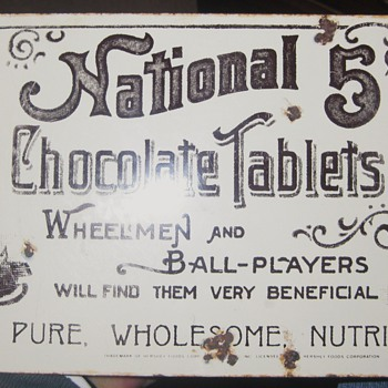 Hershey's baseball advertising sign