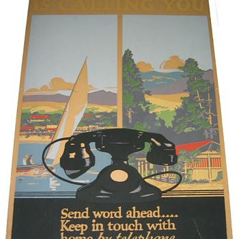 Vacationland 1930&#039;s Deco Travel Poster with WE 202 Phone - Posters and Prints