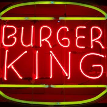 BURGER KING NEON SIGN