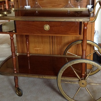 Retro drinks trolley,with draw