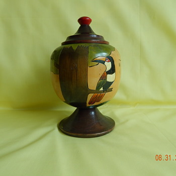 Mystery wooden vase - Folk Art