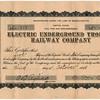 1908 - Underground Trolley Stock Certificate