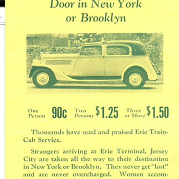 Train to Taxi Cab Transfer Service Advertisement