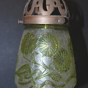 Acid Etched Shade Art Nouveau decore