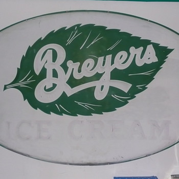 Breyers Ice Cream Sign  - Advertising