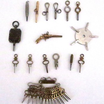 Keys for Winding & Setting Antique Pocket Watches - Pocket Watches