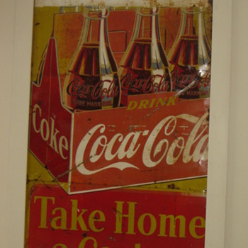 Finished 5'x8' 3 panel tin Coca-cola - Coca-Cola