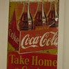 Finished 5&#039;x8&#039; 3 panel tin Coca-cola