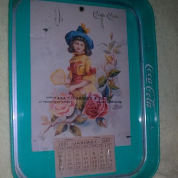 need  information 1891 commemorative coca tray tray