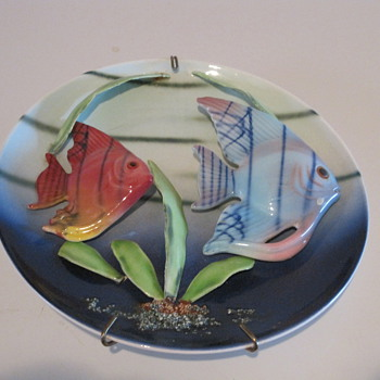 3D Angel Fish Decorative Plates - Animals