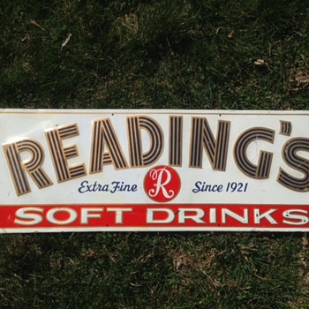 Reading's Soft Drink Sign