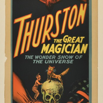 "Original 1914 Thurston ""Wonder Show of the Universe"" Stone Lithograph Poster"