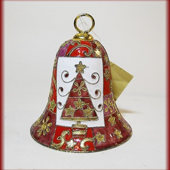 Cloisonne Christmas Bell ( with tag )