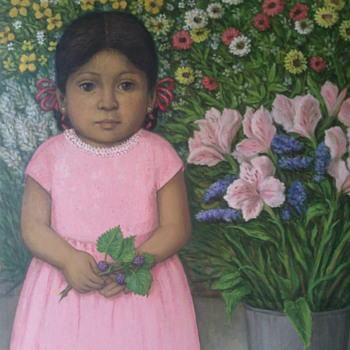 A Month ago I posted a Painting of a Mexican Girl . Here is update