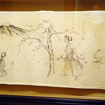 Japanese Ink Drawings on Silk 1944