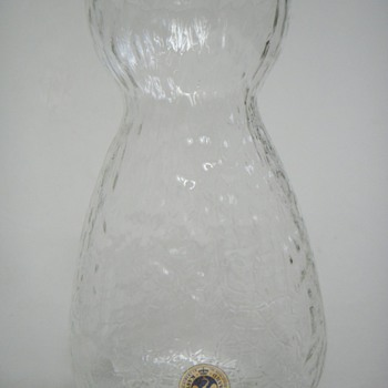 Holmegaard Textured Glass Vase~Does anyone Recognize the Designer?