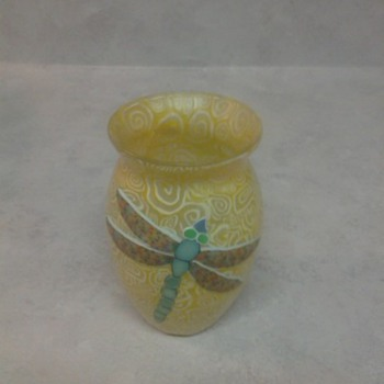DRAGONFLY  GLASS VASE
