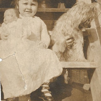 "Mom 2 year old ""Doll & Dog""1916"