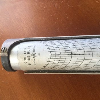 My 1928 GE Complex slide rule (Cylinder type) - Office