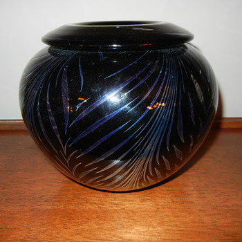 Daniel Lotton Pulled Vase - Art Glass