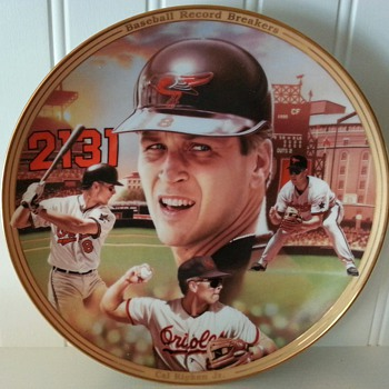 Cal Ripken Jr. Limited Editon Baseball Record Breakers Plate from The Bradford Exchange