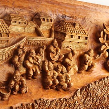 Fede Hand made wood carving panel - Visual Art