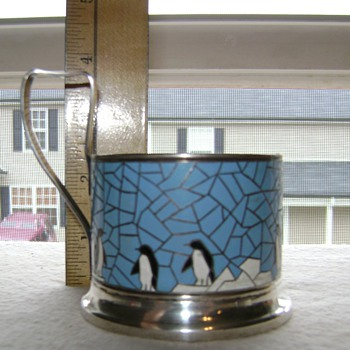 Made In U S S R Enamel Cup Holder? - Sterling Silver