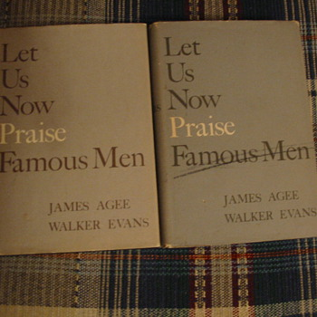 Let Us Now Praise Famous Men - James Agee and Walker Evans - 2 Copies! - Books