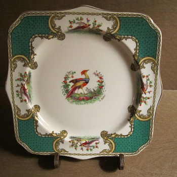 "Myott Staffordshire A. Roberts signed ""Chelsea Bird Plate"" 8.5"" - China and Dinnerware"