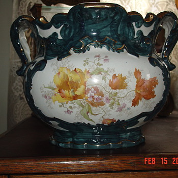 Grandmother&#039;s Beautiful Old Flower Pot - Art Pottery