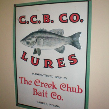 vintage metal sign from The Creek Chub Bait Co. - Fishing