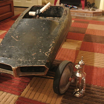 Early '70s AMF Pedal Car ...Probe Jr ride ....