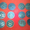 "WWI U.S. Army Collar Disc collection ~group ""A"""