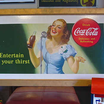 "Coca Cola 1941 ""Entertain Your Thirst"" sign"