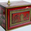 Today's find~Wonderful Red Chest w/Drawers~Japanese~Interesting Painting