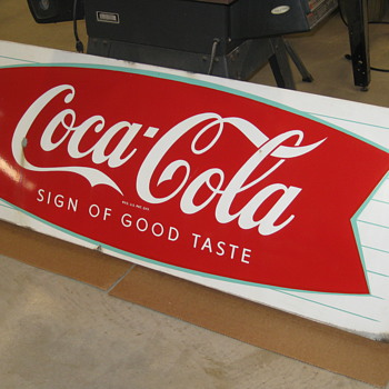 Coca-Cola sled fish type !959-1960 - Coca-Cola